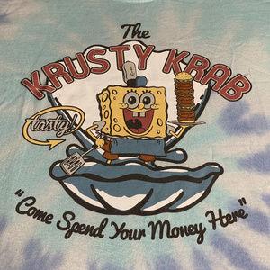 Sponge Bob Krusty Krab Tie Dye Tee Lrg